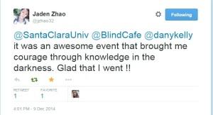 Jaden blind cafe testimonial